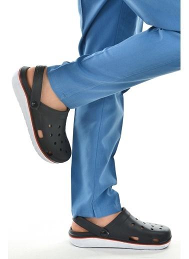 Gezer Gezer Eva 12471 Hastane Orto pedik Erkek Sandalet Terlik Siyah